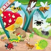 Worms and Bugs for Toddlers and Kids : discover the insect world ! games for kids - FREE app