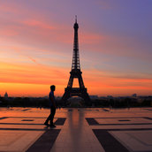 Waiting for Sunrise at the Trocadero