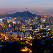 Seoul city skyline wallpaper